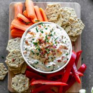 Skinny Loaded Baked Potato Dip