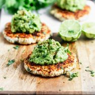 5-Ingredient Blackened Cilantro Lime Chicken Burgers