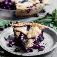 Easy Blueberry Pie with Basil and Goat Cheese