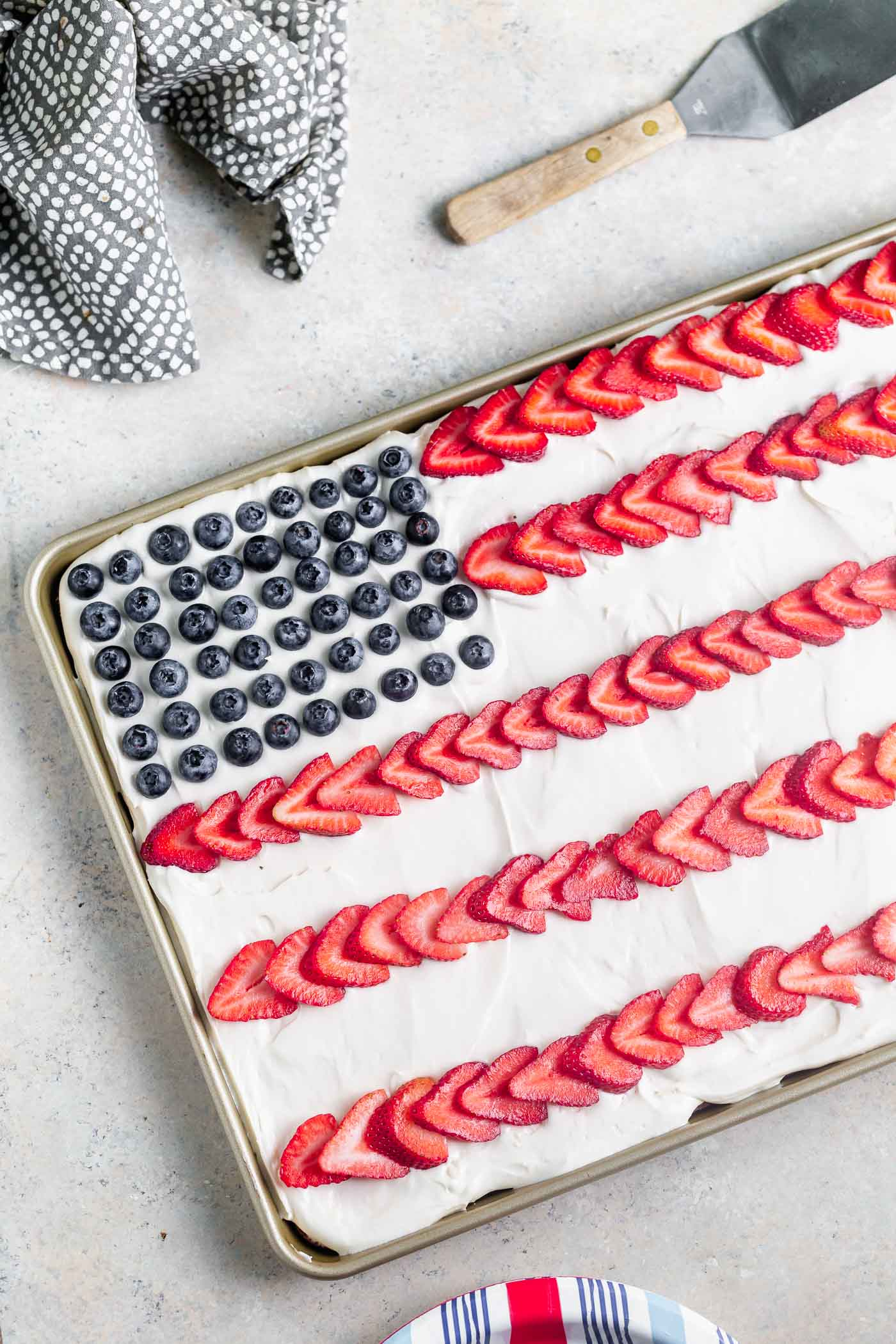 Fourth Of July Flag Cake Cooking For Keeps