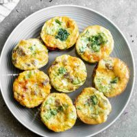 5-Ingredient Sausage and Broccoli Frittata Muffins