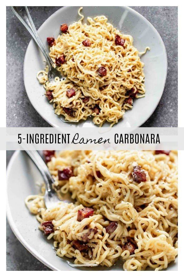 5-Ingredient Ramen Carbonara: One pot, 20 minutes until creamy pasta heaven!