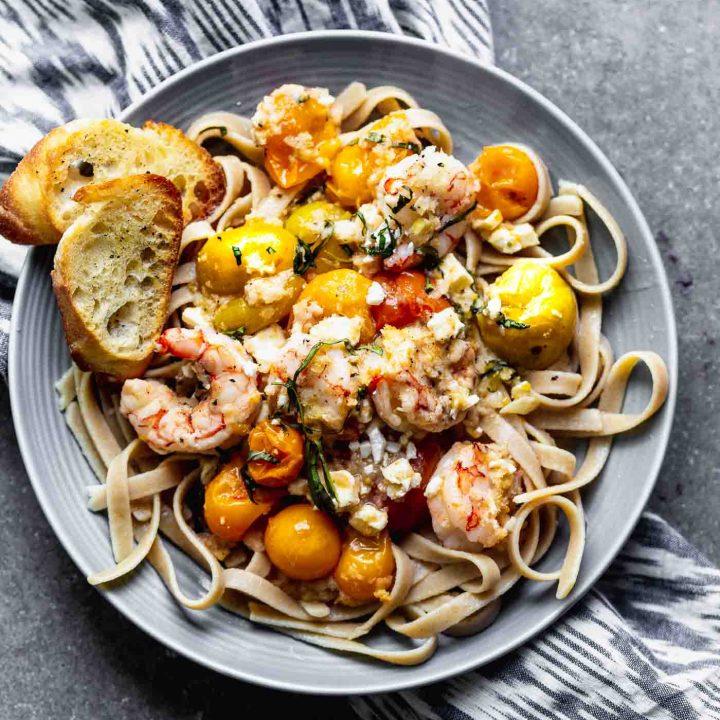 Tomato and Feta Baked Shrimp
