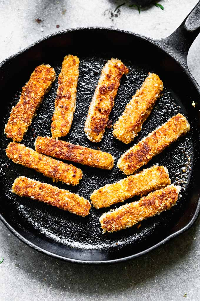 pan-frying halloumi fries