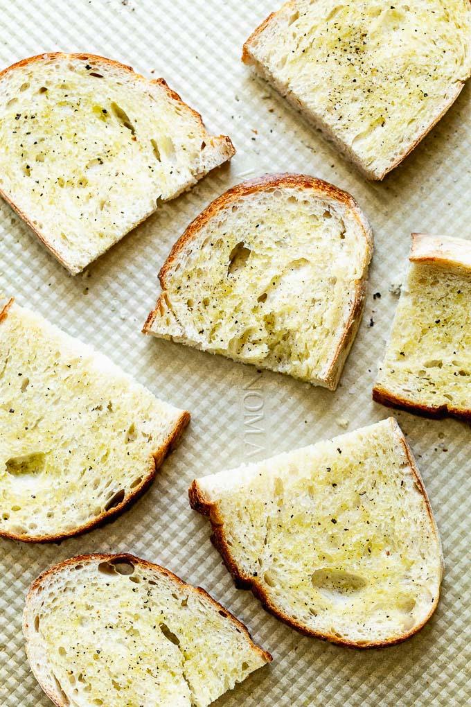 Toasted crusty Italian bread