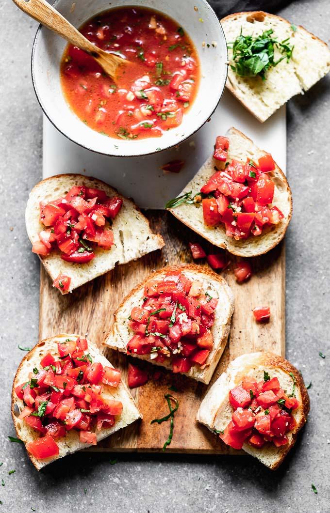 Easy Tomato Basil Bruschetta