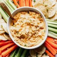 Buffalo Chicken Dip (Without cream cheese!)