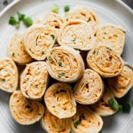 Buffalo Chicken Pinwheels (Five ingredients)