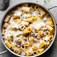 Cheesy Beef Stroganoff Pasta