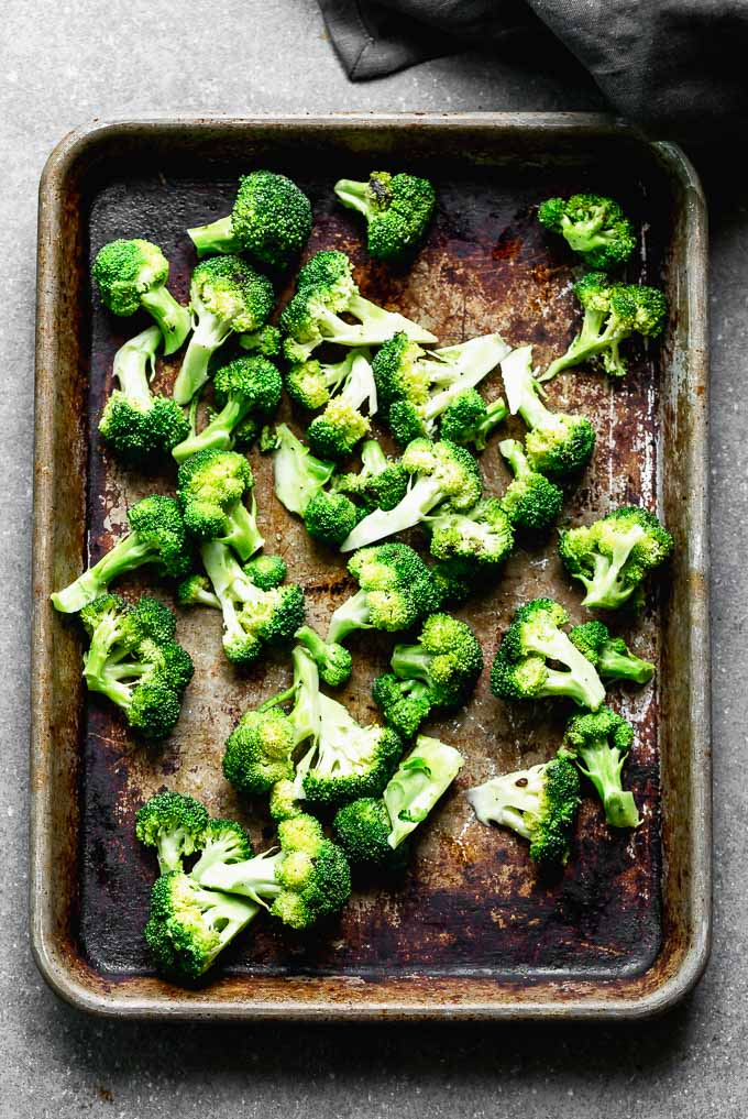 Steam broccoli in the oven