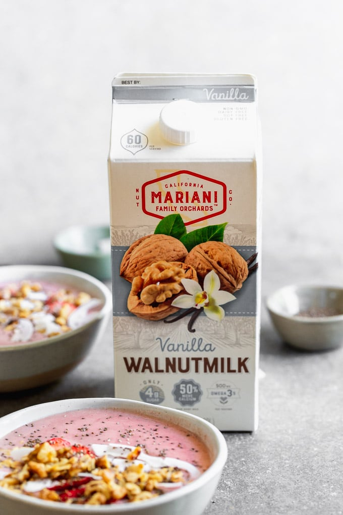 Mariani Walnutmilk is perfect for smoothies!