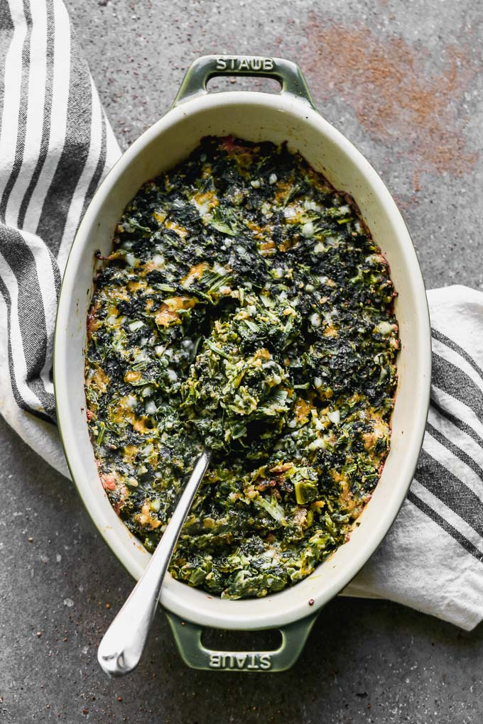 Cheesy Baked Spinach Casserole