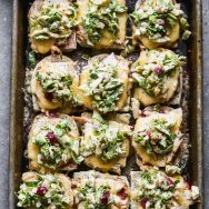 Cranberry and Turkey Melts with Brussels Sprout Slaw
