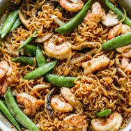 Shrimp Ramen Stir Fry