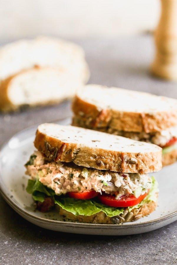 Easy Tuna White Bean Salad Sandwich