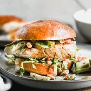 Blackened Fish Sandwich Recipe with Brussels Sprout Slaw