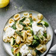 Lemon Brown Butter Pasta with Zucchini