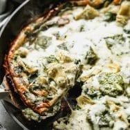 Cheesy Artichoke and Spinach Frittata