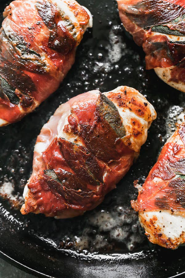 Sear chicken in butter and olive oil