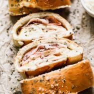 Ham and Cheese Stromboli (5 Ingredients!)
