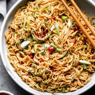 Simple Chili Garlic Noodles (5 Ingredients!)