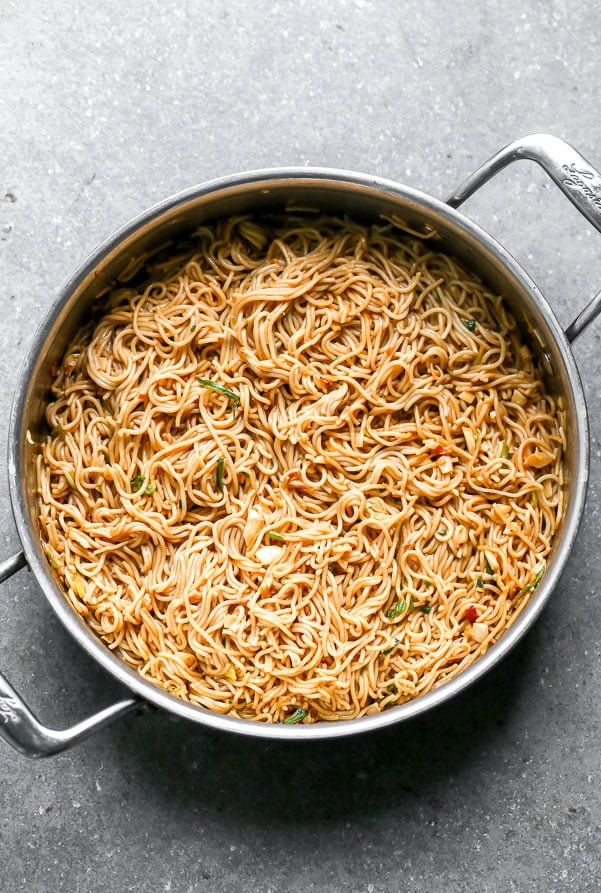 Simple Chili Garlic Noodles. The fastest dinner on the planet!