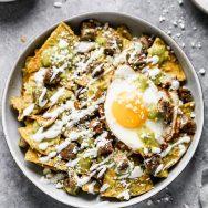 Breakfast Chilaquiles Verdes