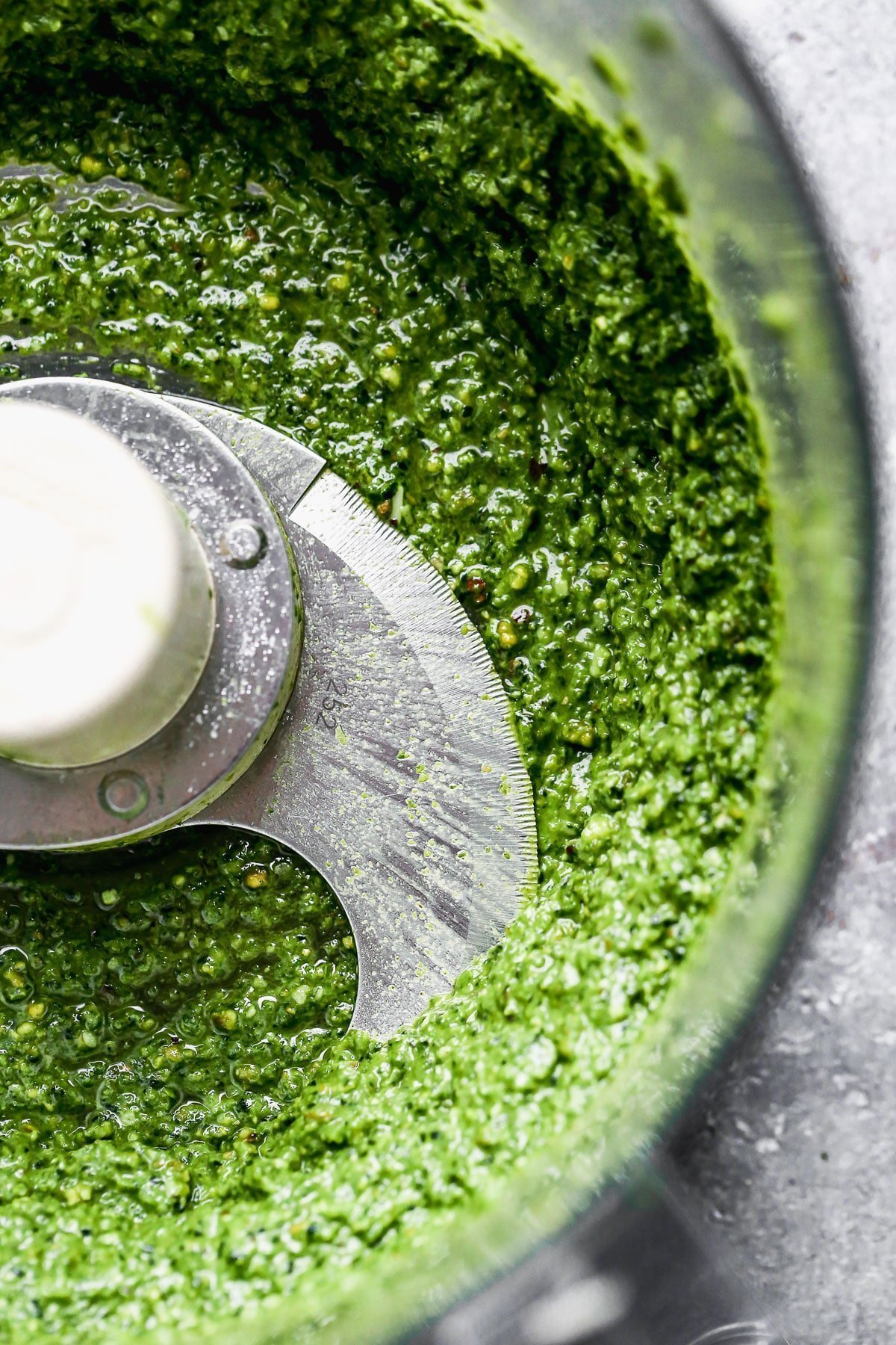 Kale Pesto in the food processor