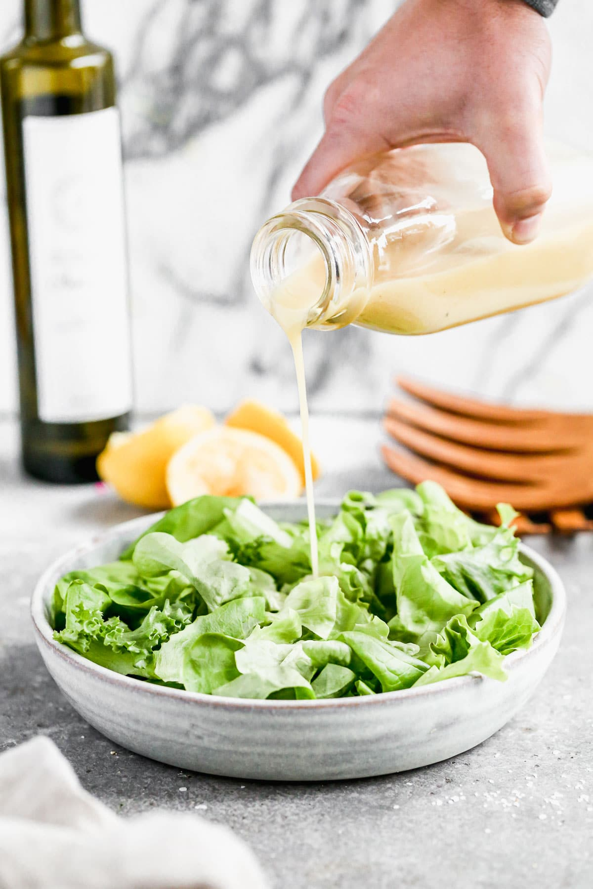 With hints of tang from dijon mustard, a slight sweetness from honey, and of course plenty of citrusy punch from lemon juice, our Easy Lemon Dijon Vinaigrette is something you're going to want to keep in your fridge all year long. I'm also willing to bet the mere five ingredients required for this easy dressing are loitering around in your pantry this very minute.
