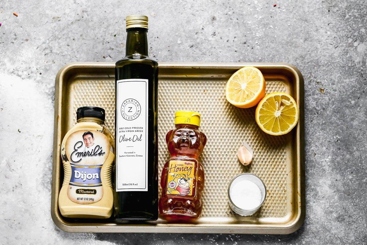 Ingredients for Lemon Dijon Vinaigrette