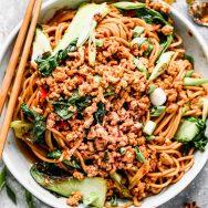 Spicy Dan Dan Noodles with Chicken