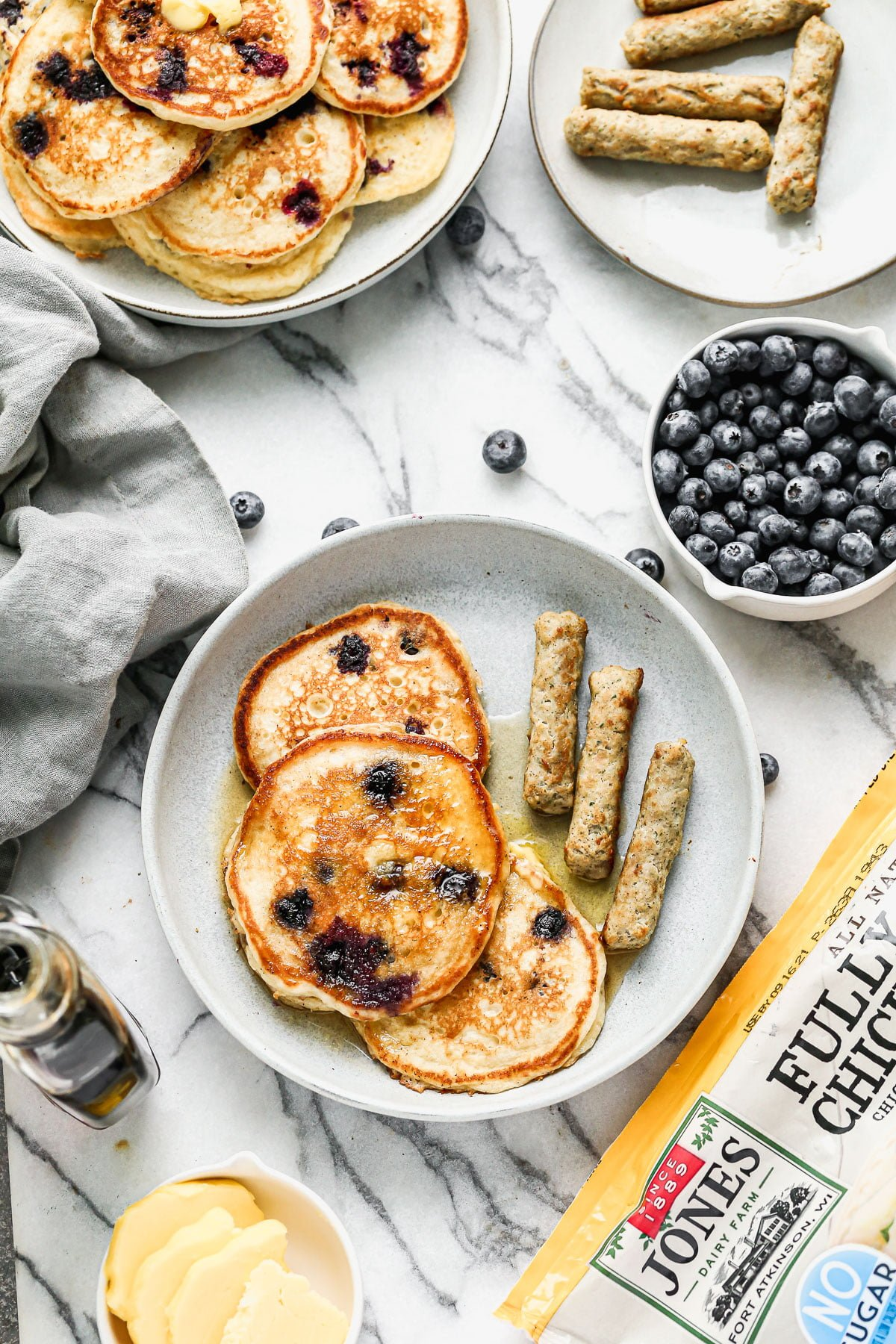 Crispy on the outside, fluffy on the inside and full of tanginess is means these are the best Blueberry Buttermilk Pancakes on the planet!