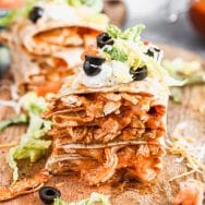 Chicken Enchilada Taco Quesadillas