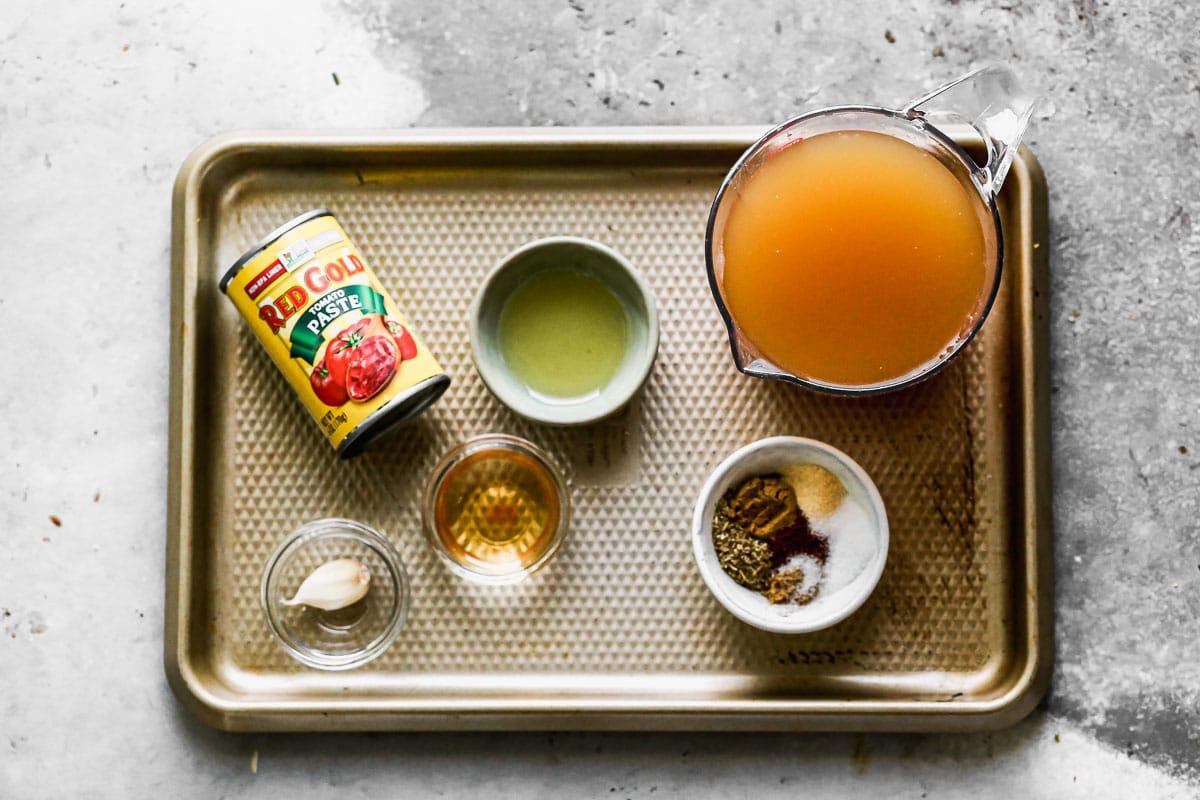Ingredients for enchilada sauce