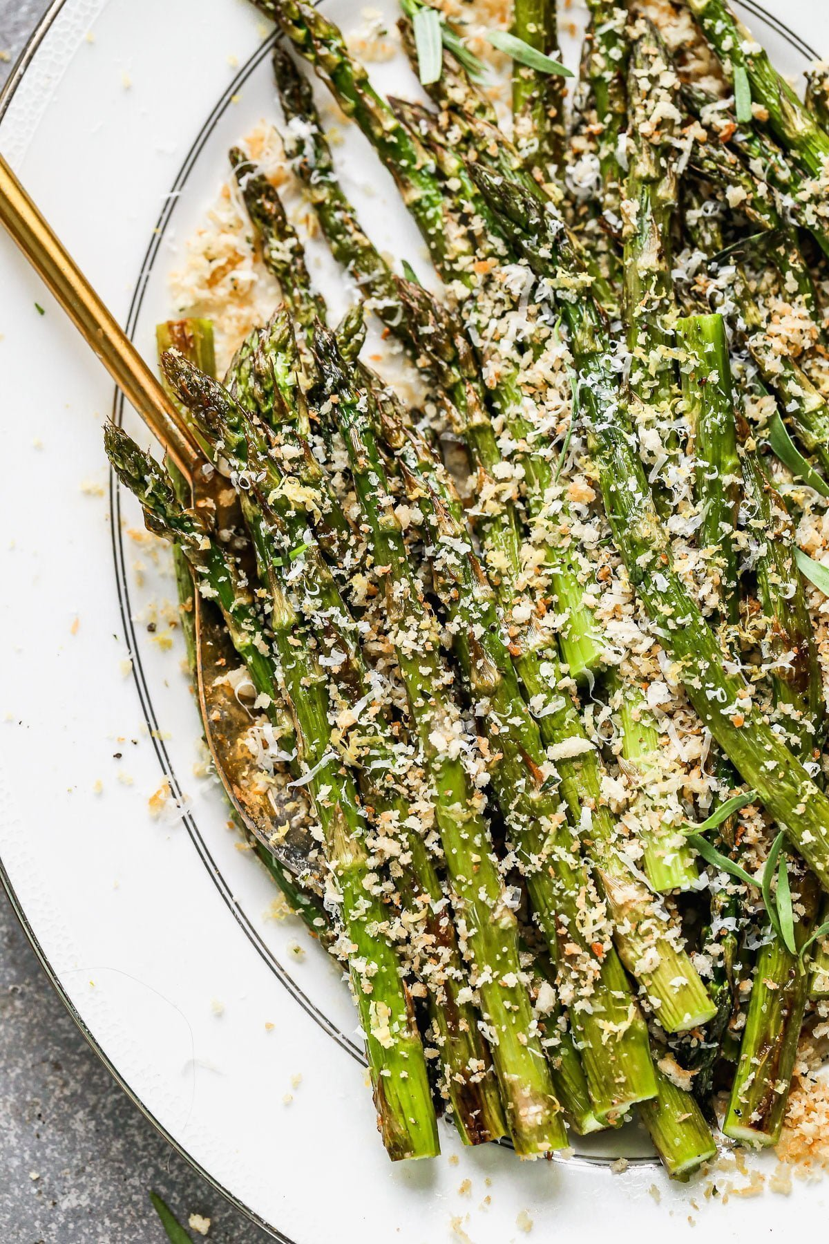 Roasted Asparagus with Breadcrumbs
