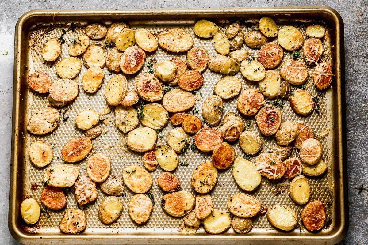 Crispy Roasted Potatoes and Mushrooms
