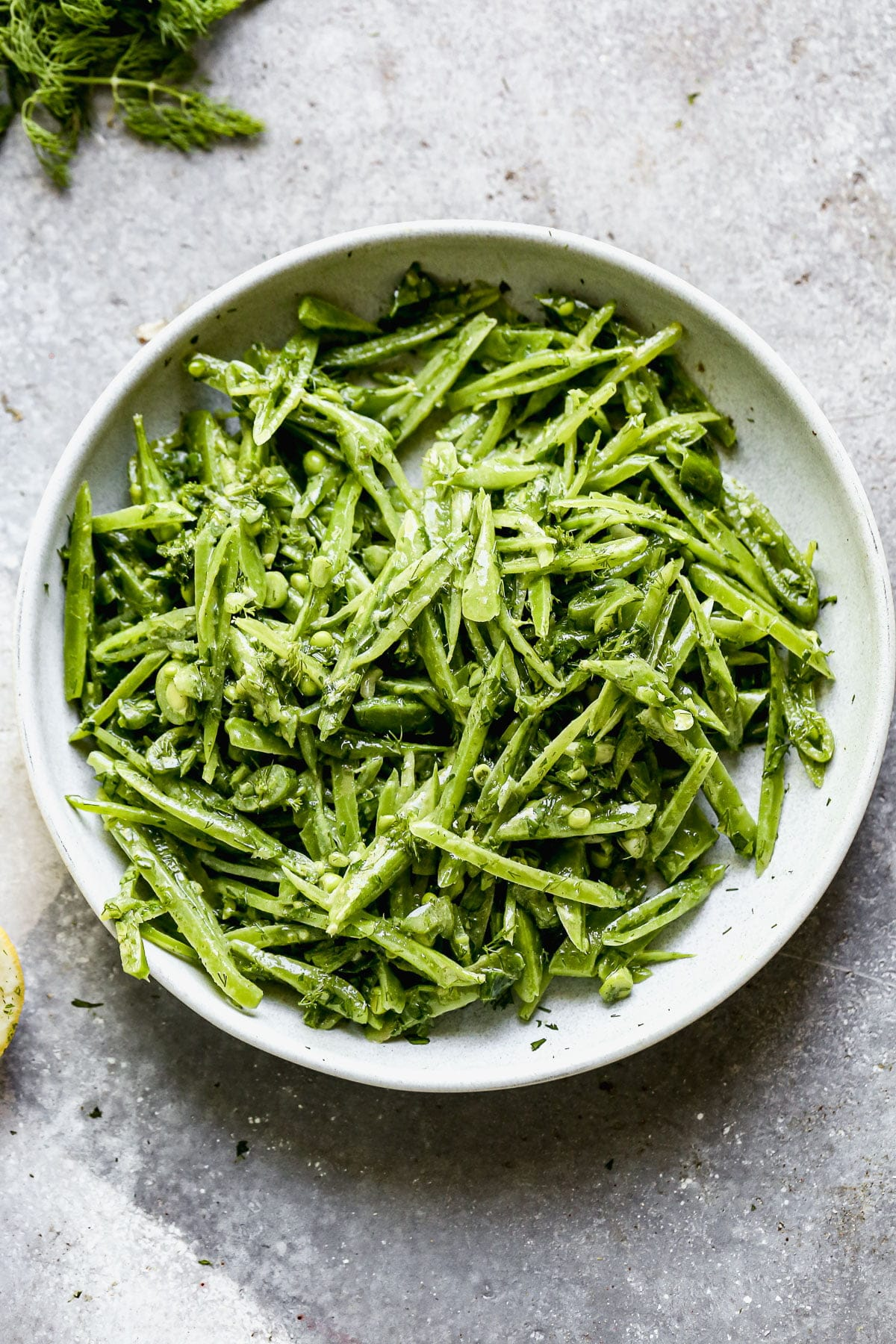 Snap Pea Salad with Dill