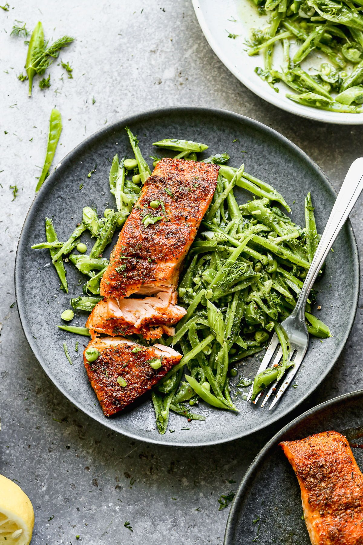 Want salmon that's ultra crispy on the outside, moist on the inside, and abundant with flavor? Head straight the grocery store and pick up the ingredients for our Blackened Air Fryer Salmon with Snap Pea Salad. This bright, spring-forward meal comes together in less than 30 minutes and will certainly find a home in your weekly dinner rotation.