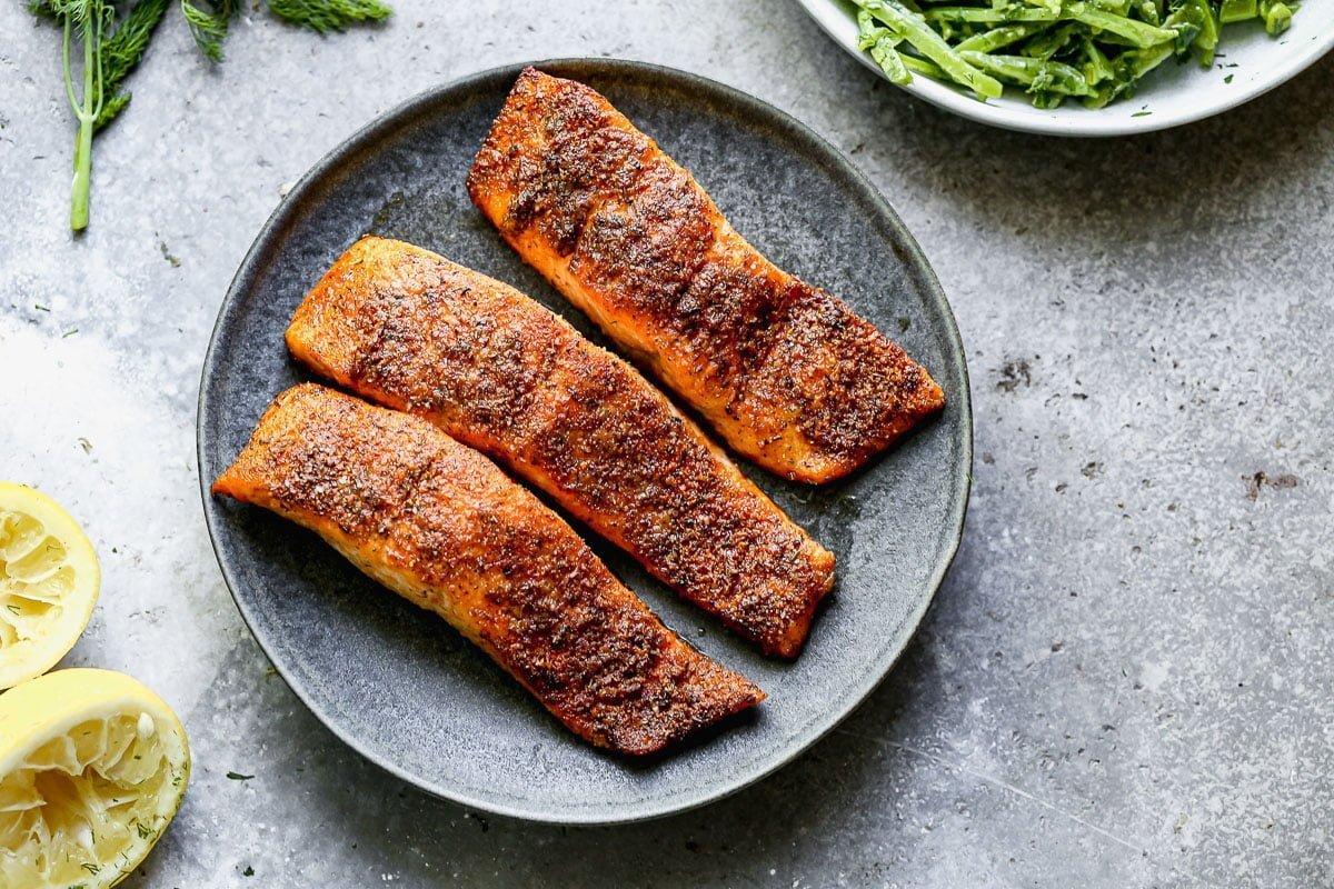 Blackened Air Fryer Salmon