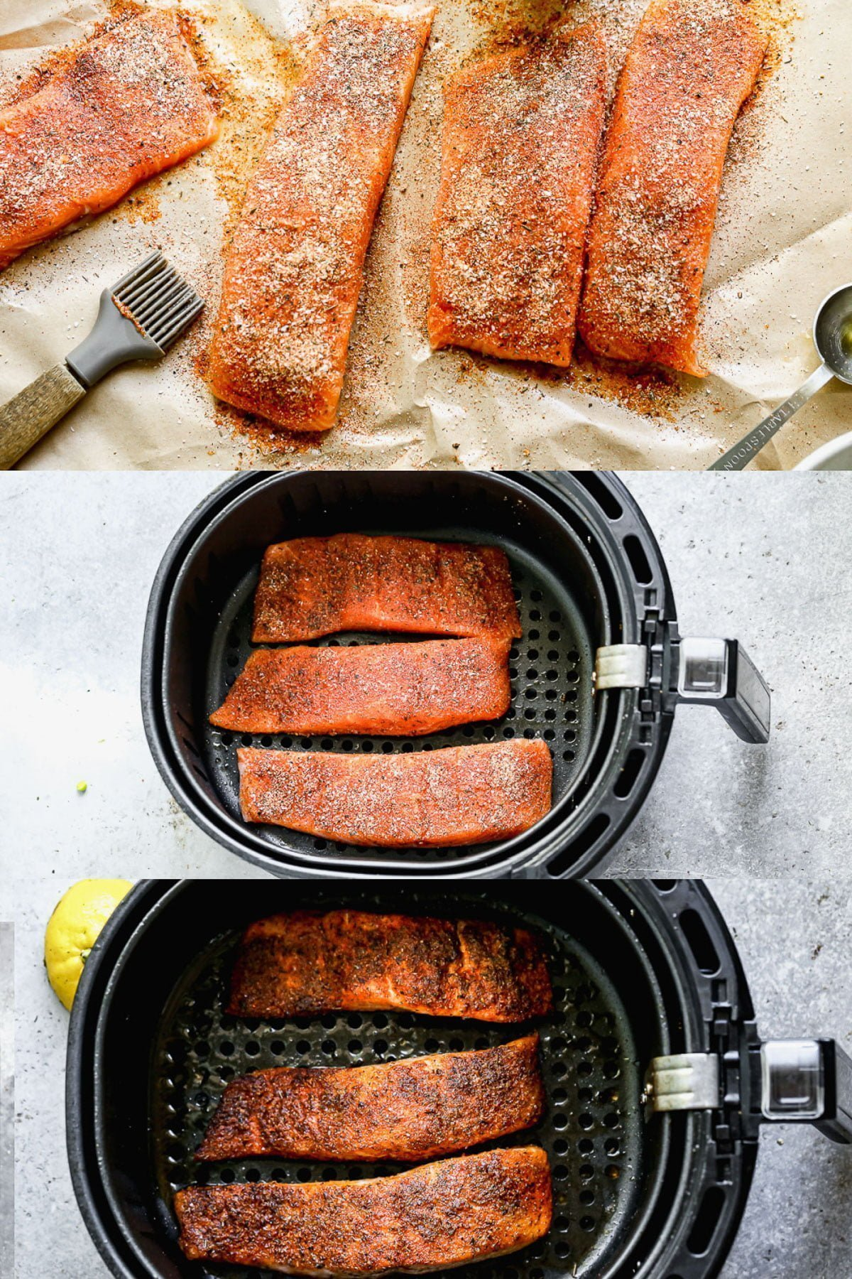 How to air fry salmon