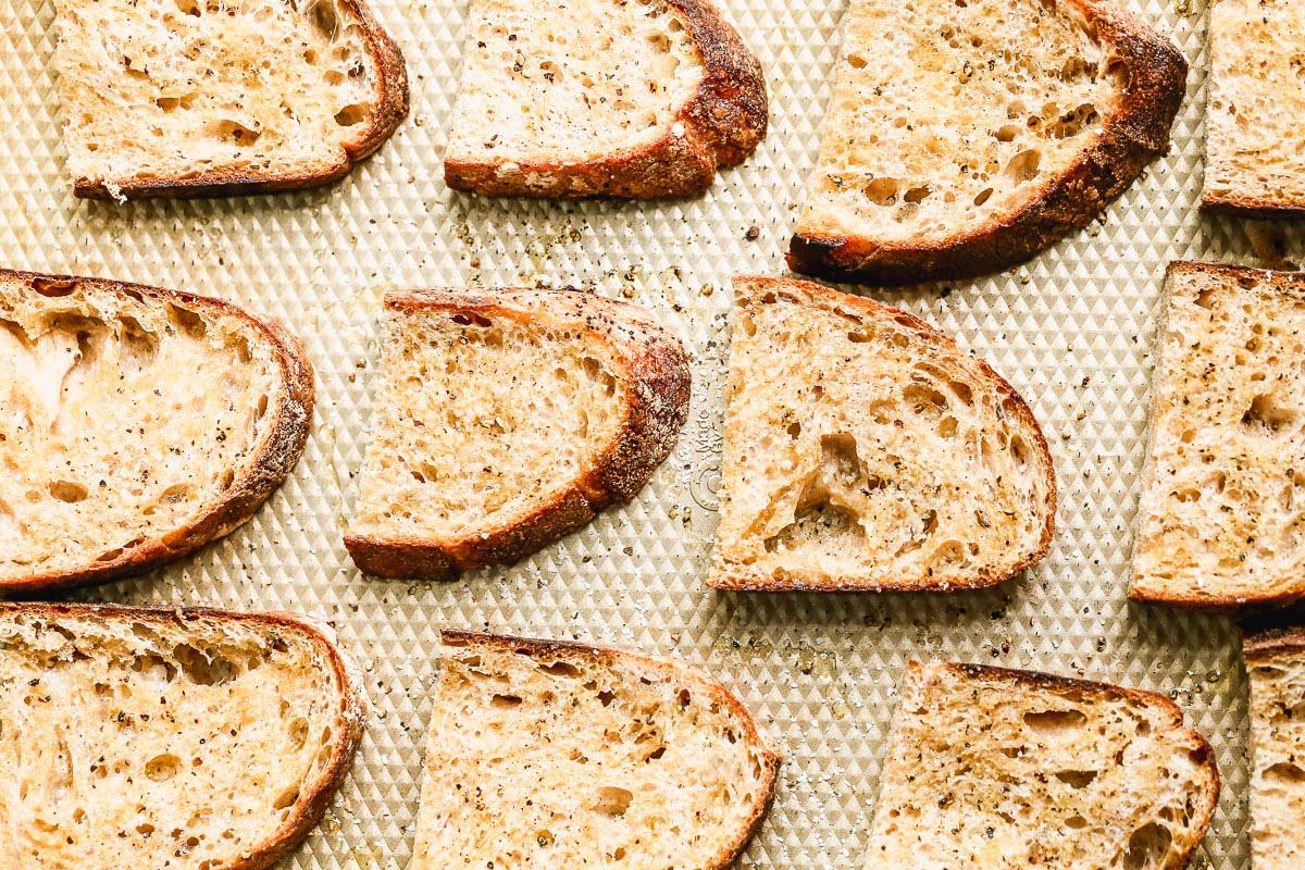Toasted crusty bread