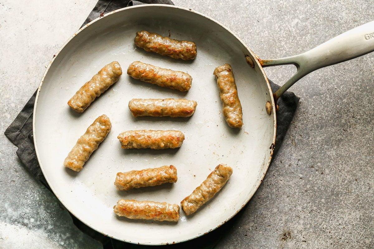 Brown maple sausage