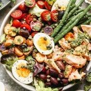 Roasted Salmon Nicoise Salad