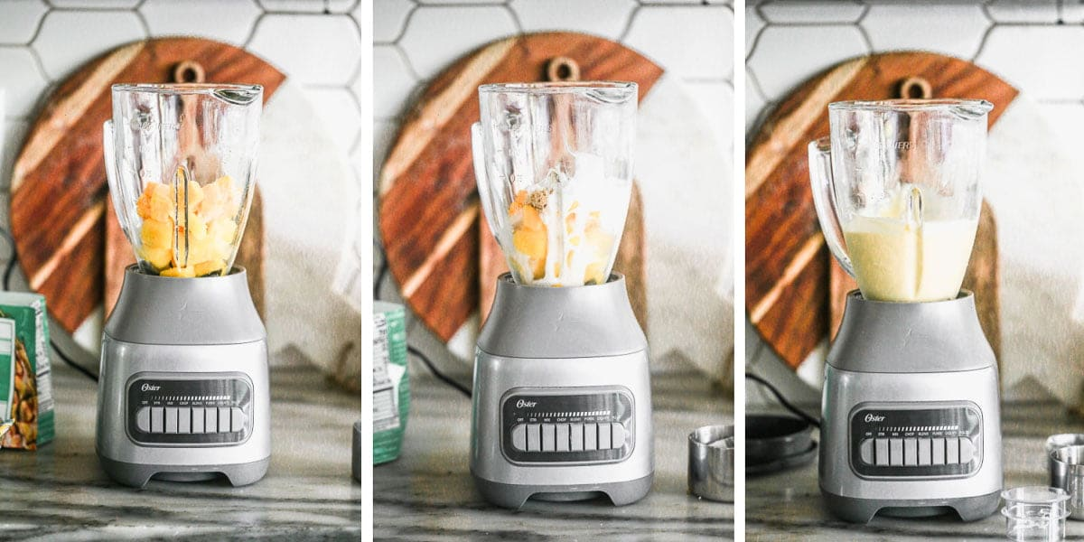 Blending the tropical smoothie