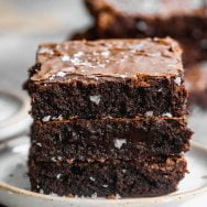 Salted Double Chocolate Brownies