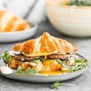 Spicy Sausage Croissant Breakfast Sandwich
