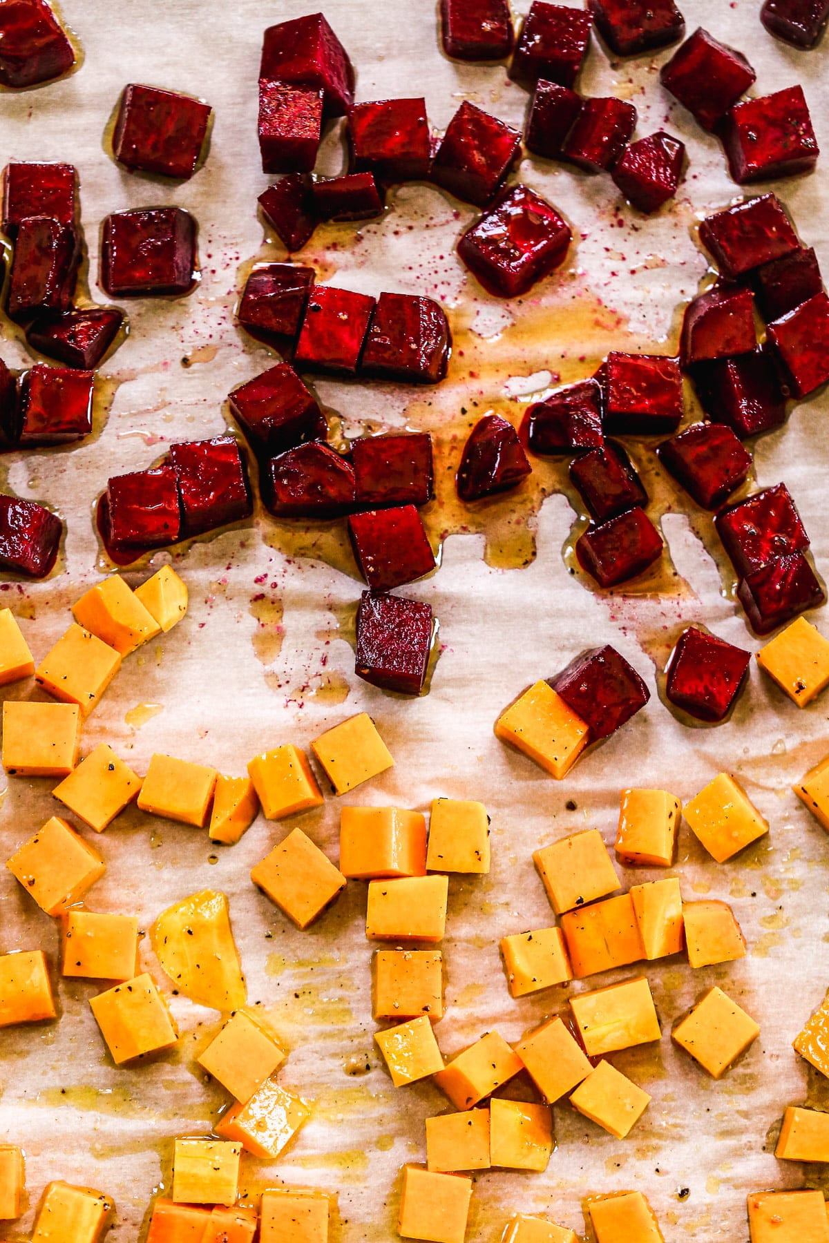 Roasted beet and butternut squash